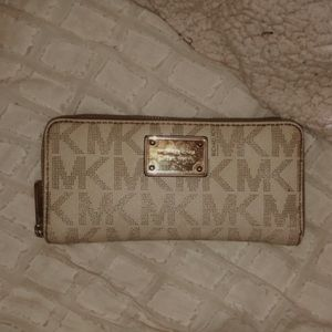 Michael Kors Cream & Tan Wallet